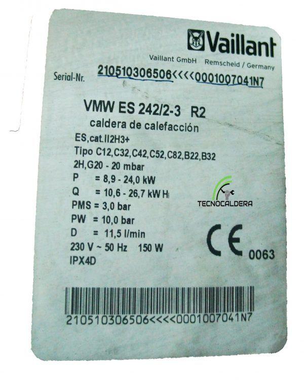 CUADRO DE MANDOS VAILLANT VMW 242/2-3