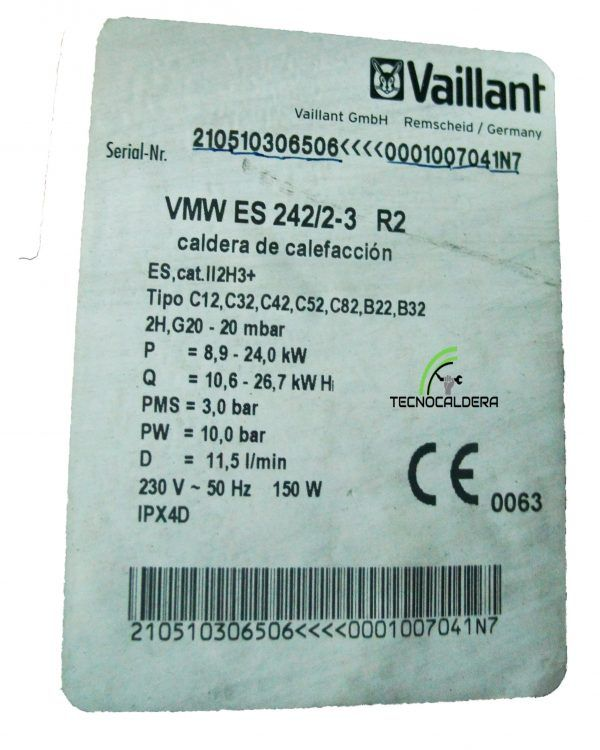 QUEMADOR VAILLANT VMW