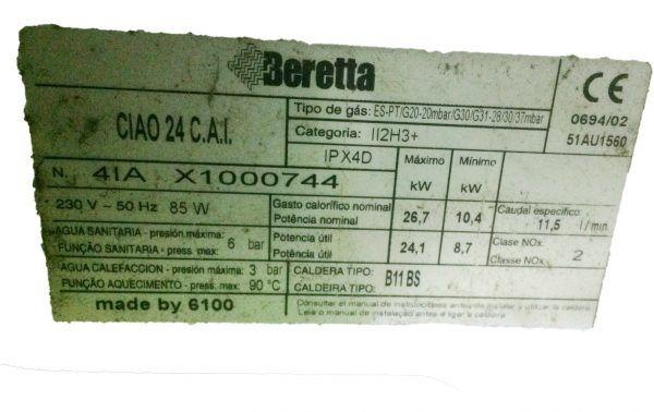 INTERCAMBIADOR PRIMARIO BERETTA CIAO 24