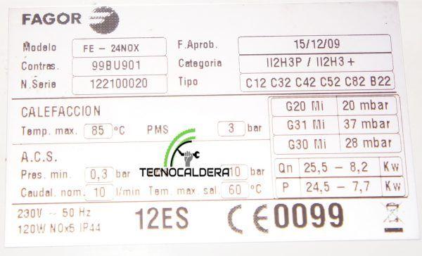 PLACA ELECTRONICA FAGOR 24NOX