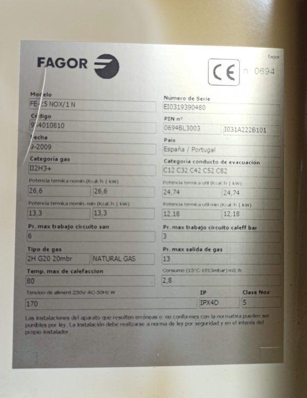 VENTILADOR FAGOR FE 25 NOX