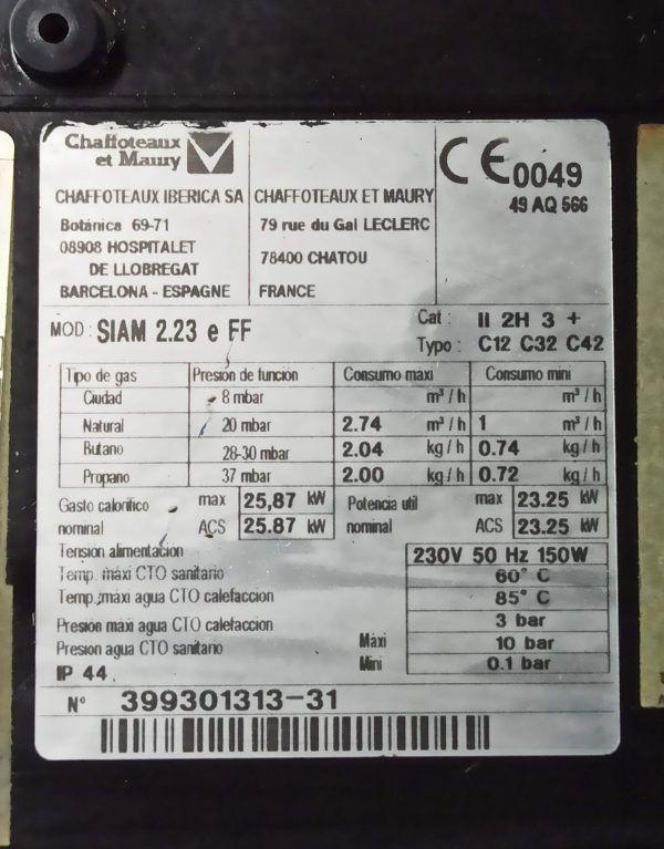 ELECTRODOS Y SONDA DE IONIZACION SIAM 23