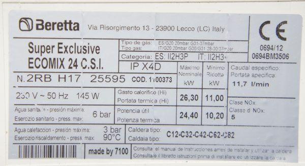 PLACA ELECTRONICA BERETTA SUPER EXCLUSIVE ECOMIX 24 C.S.I